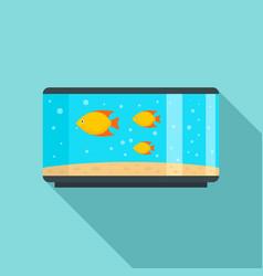 home fish aquarium icon flat style vector image