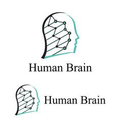 Human brain logo vector