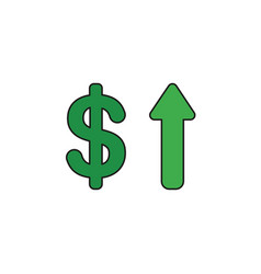 icon concept of dollar with arrow moving up vector image