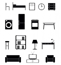 interior icon set vector image