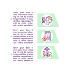 Intermittent fasting diet method concept icon vector