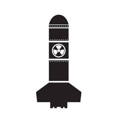 isolated nuclear missile icon vector image