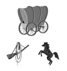 Isolated object ranch and farm logo collection vector