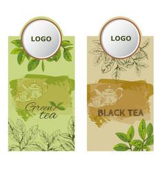 label tea2eps vector image