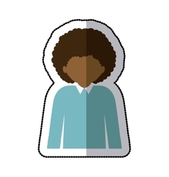 Man profile pictogram vector image