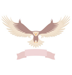 Modern simple eagle icon design vector