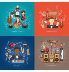 Music Design Concept Set vector image