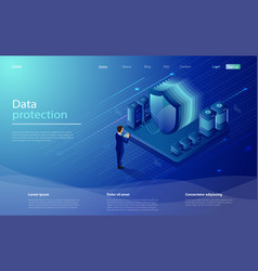 Network data security concept digital protection vector