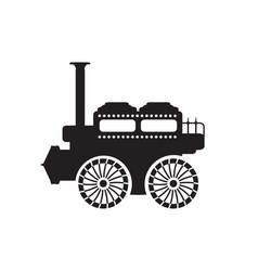 old vintage car silhouette retro vector image