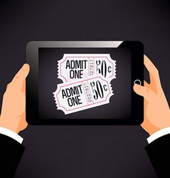 Online Booking on a Tablet vector