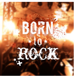 phrase rocknroll poster vector image