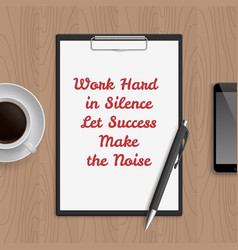 quote work vector image
