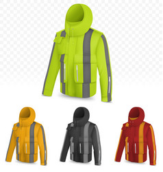 Reflective jacket isolated on transparent vector