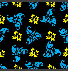 Seamless pattern with ornamental flowers vector