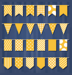 set of garlands with flags cute simple patterns vector image