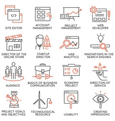 Set of icons related to business management - 31 vector image