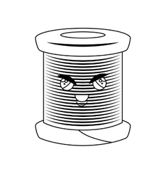 Sewing threads comic character isolated icon vector