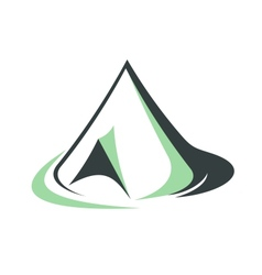 Tepee or pyramidal tent vector image