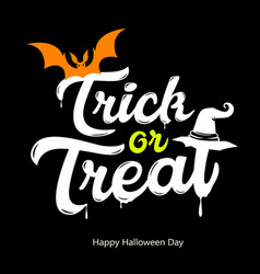 Trick or treat white message design vector