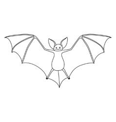 Vampire bat vector image