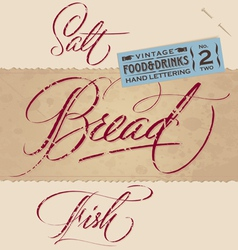 Vintage menu headlines set vector