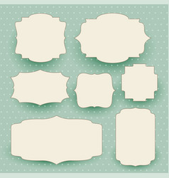 vintage white labels set with text space vector image