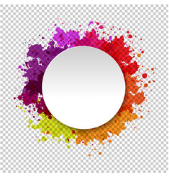 Watercolor blot abstract transparent background vector