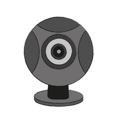 webcam pc technology vector image