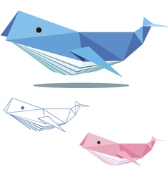 Whale low polygon vector