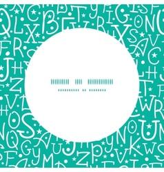 white on green alphabet letters frame seamless vector image