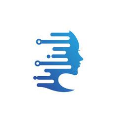 Woman technology icon design vector