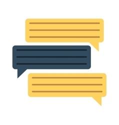 bubbles speech dialog speak text vector image