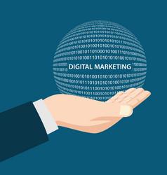 Digital marketing concept vector