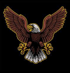Eagle spread his wings vector