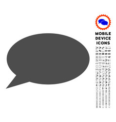 message cloud icon with set vector image vector image