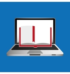 Online education concept book learning vector