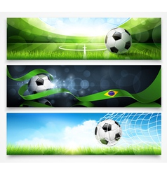 Set of football banners vector image