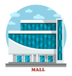 Supermarket or mall outdoor exterior view vector image vector image