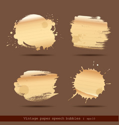 Vintage paper speech bubble paint brush vector image vector image