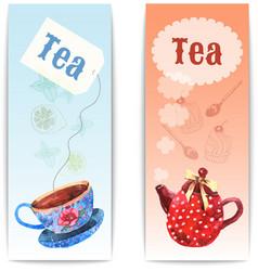 Watercolor Tea Banner vector image