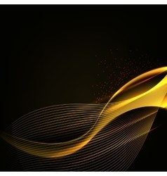abstract background luminescence wave vector image vector image