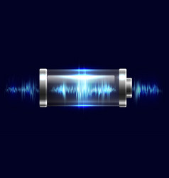 batteries with electric charge vector image