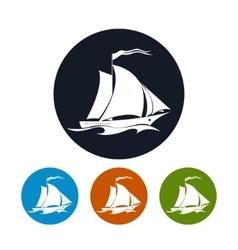 Sailing vessel icon vector image vector image