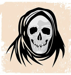 scull death Black monster halloween vector image vector image