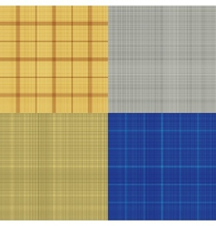 Set of seamless sacking texture vector image