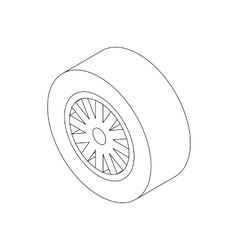 Car wheel icon isometric 3d style vector image