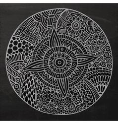 Chalkboard circle sketch background vector