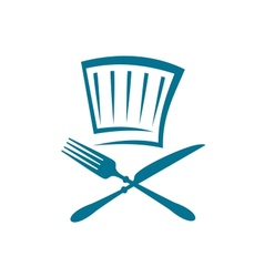 Doodle restaurant sign with knife fork and glass vector