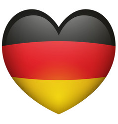 flag of germany in heart shape vector image