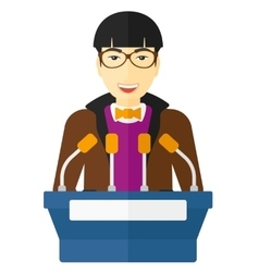 Man speaking on podium vector image vector image